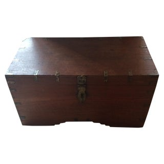 Campaign Style Wooden Trunk