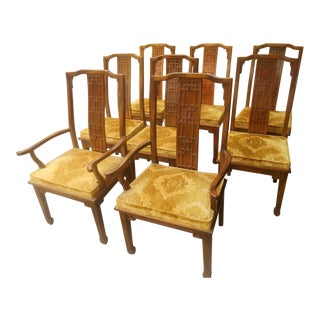 Century Furniture Mid-Century Greek Key Dining Chairs - Set of 8