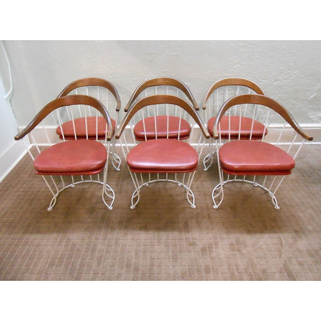 Mid-Century Modern Iron Based Dining Set - Image 7 of 10