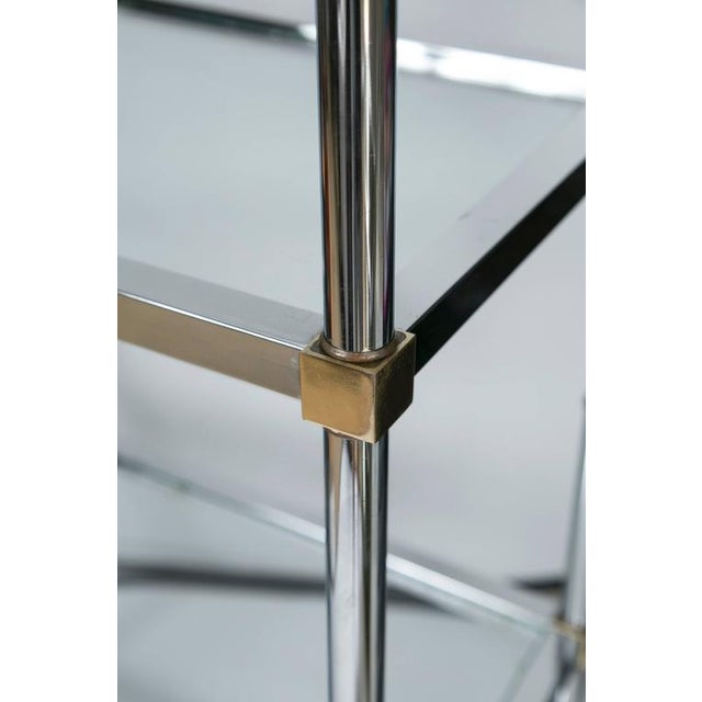 Maison Jensen Style Brass and Chrome Etagere - Image 6 of 7