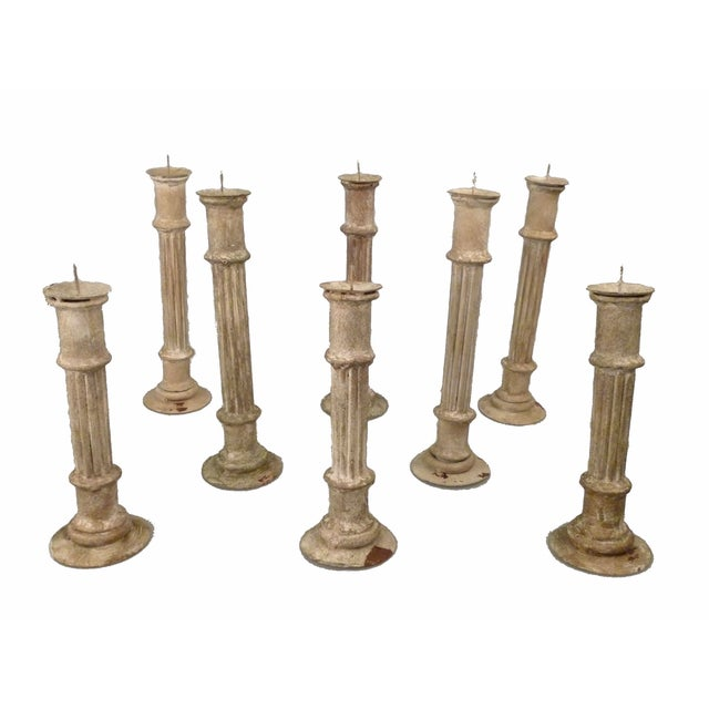 Image of Classical Column Candlesticks - Set of 8