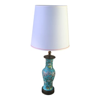 Vintage Chinese Turquoise Lamp