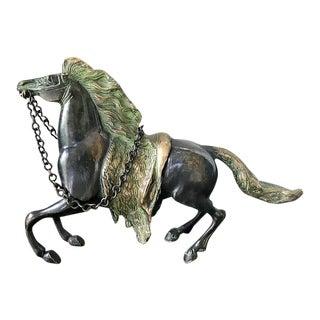 Iron Prancing Horse Schulpture