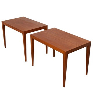 Danish Embassy Haslev Teak Side Tables- a Pair