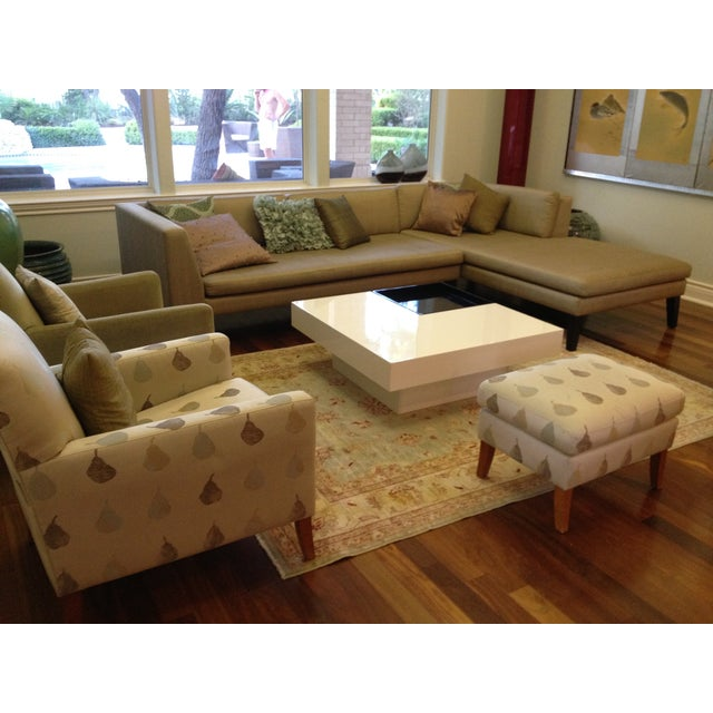 Image of Jim Thompson Custom Sectional in Pure Silk