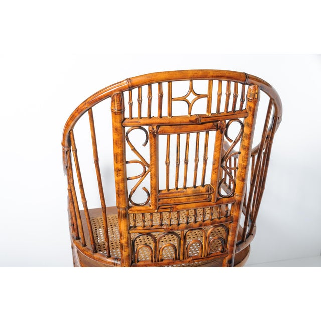 Vintage High Back Bamboo Caned Chairs- A Pair - Image 3 of 10