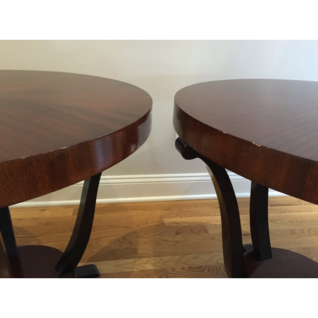 Image of Art Deco Styke Rosewood Side Tables - A Pair