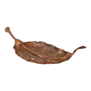 Copper Leaf Decorative Dish