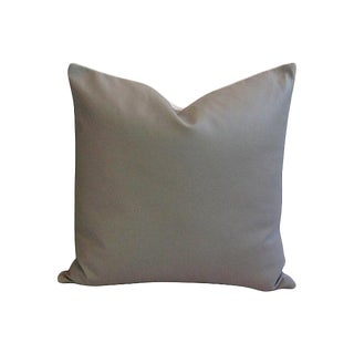 Custom Italian Slate Gray Leather Pillow
