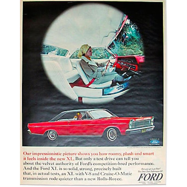1960s Ford Mustang Falcon Matted Ad - Image 1 of 1