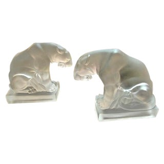 French Deco Jaguar Bookends - Pair