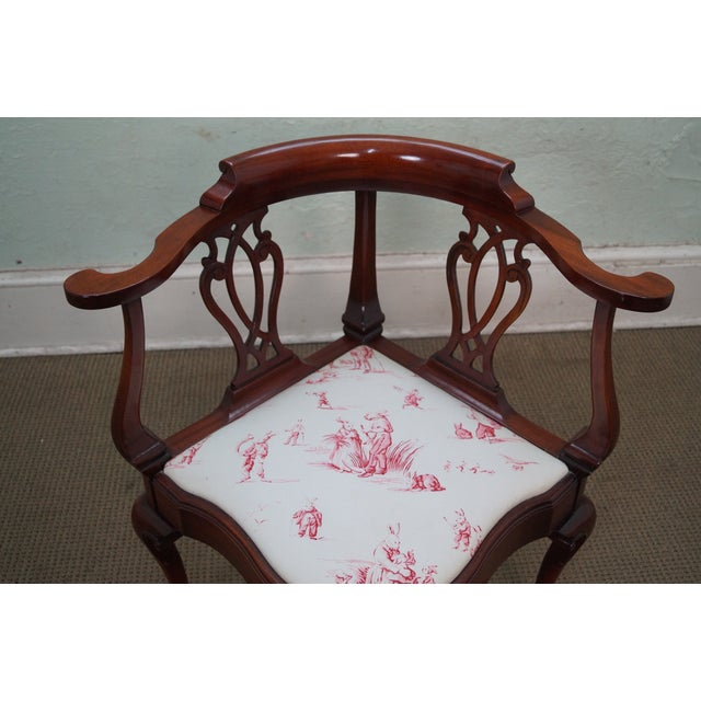Southwood Chippendale Style Claw Foot Corner Chair - Image 5 of 10