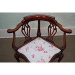 Image of Southwood Chippendale Style Claw Foot Corner Chair