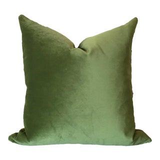Two-Tone Green Pillow