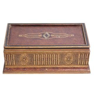 Italian Golden Jewelry Box