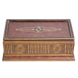 Italian Golden Jewelry Box