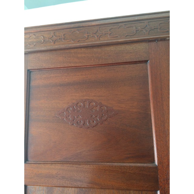 Image of Antique Wooden Mirrored Armoire