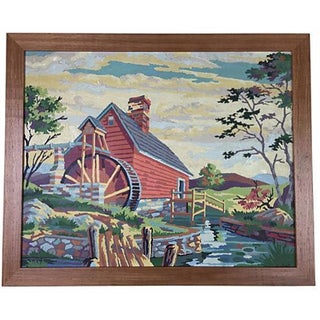 1964 Paint-by-Numbers Farmhouse Scene
