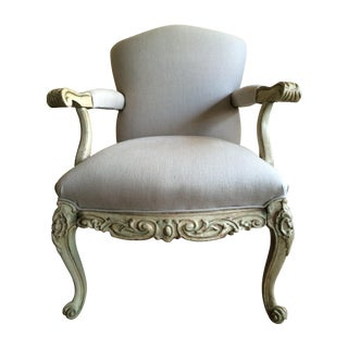 Hand Painted Vintage Bergere Chair