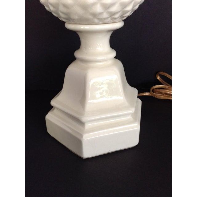 Image of Bone White Ceramic Pineapple Lamps - A Pair