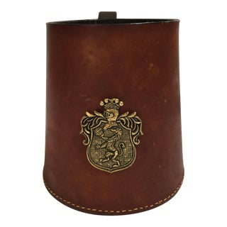 English Leather & Brass Tankard