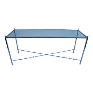 Milo Baughman Attributed Chrome Console Table