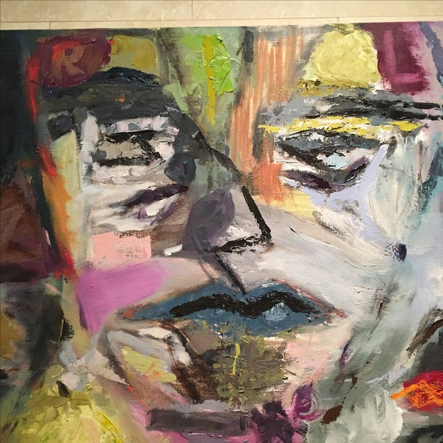 JJ Justice Abstract Oil Painting - Image 3 of 7