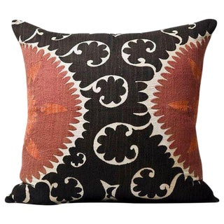 Vintage Oversized XL Bolinpush Suzani Pillow