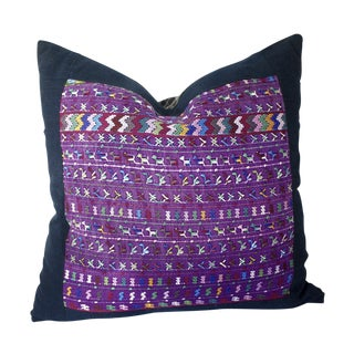 Purple Guatemalan Textile Pillow Cover