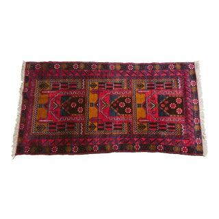 Vintage Afghan Carpet Rug - 3′3″ × 6′7″