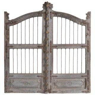 Vintage French Teak Garden Gate