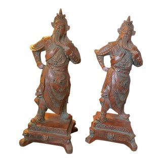 Chinese Warrior Figurines - A Pair