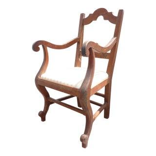 Rustic Walnut Armchair