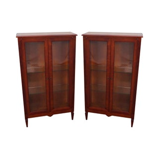 Grange French Cherry Curio Cabinets Bookcases - Pair