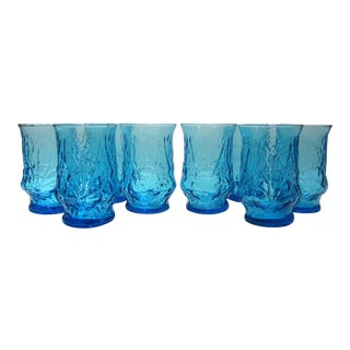 Aqua Textured Juice Glasses - Set of 8