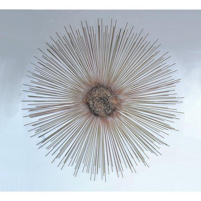 Vintage Mid Century Modern Brutalist Starburst Sunburst Wall Sculpture MCM Jere Style - Image 3 of 11