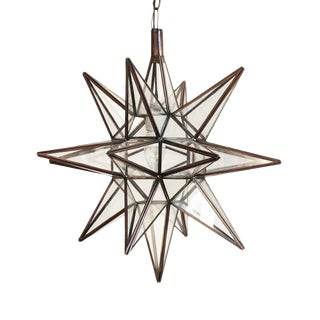 Moroccan Glass Star Lantern
