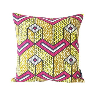 African Lubumbashi Square Pillow Cover