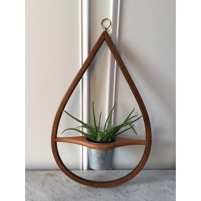 Mid Century Modern Wood Hanging Planter Chairish