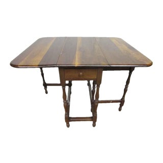 Pine Gate Leg Table with Drawer