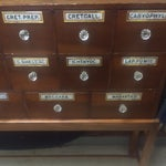 Image of Antique English Apothecary Cabinet on Stand