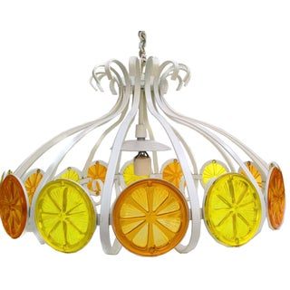 1970s Citrus Slice Pendant Light