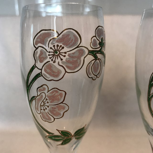 Perrier Jouet Champagne Flutes- A Pair - Image 3 of 10