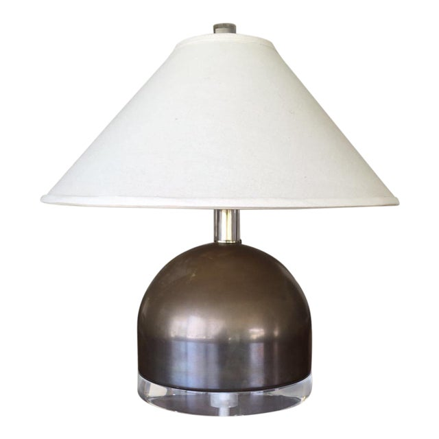 Mid-Century Squat Table Lamp - Image 1 of 6