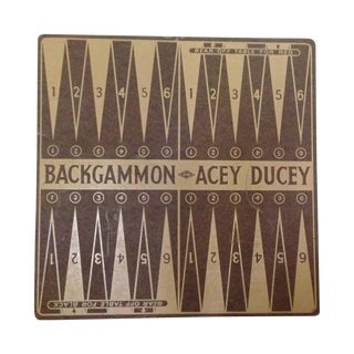 Vintage Backgammon Acey Ducey Game Board