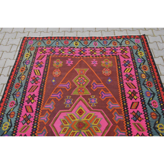 Anatolia Turkish Kilim Rug - 6′6″ × 14′2″ - Image 7 of 10