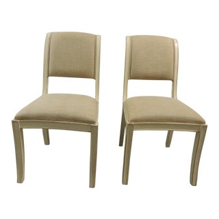 Wood Painted Dining Chairs - A Pair