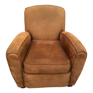 Brown Suede Club Chair