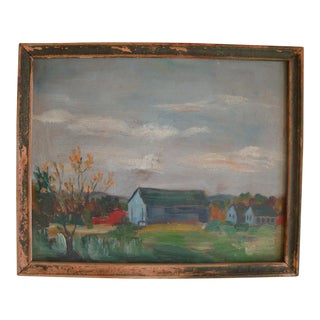 Miniature Rural Farm Barn Landscape