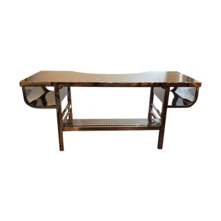 Restoration Hardware Stainless Steel Desk